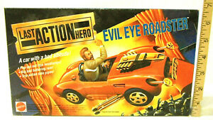 1993 Mattel Last Action Hero Evil Eye Roadster Stunt Car Schwarzenegger NIB