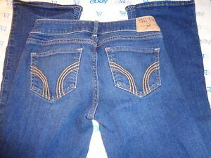 $69 Hollister 1R teen dark stress wash bootcut jeans 26/31