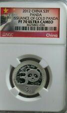 2012 China S3Y Panda Issuance Of Gold Panda PF 70  Ultra Cameo NGC