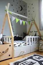 Kinder Bett TIPI BED 100%HOLZ 160/80 Schubläden Matraze