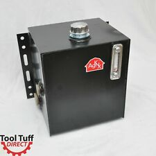 Tool-Tuff 15-Gallon Hydraulic Fluid Reservoir Tank, Side Vertical-Mount, w/Temp