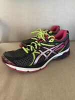 asics gel flux 3 Womens Mumticolored Running Shoes Size 9.5 Pink Green Black