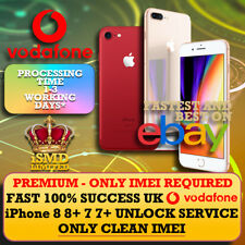 FAST UNLOCK UK GB ENGLAND VODAFONE IPHONE 8 8+ 7 7+ PLUS UNLOCKING IMEI SERVICE
