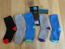 BOYS SOCKS 5 Pairs Size 13-4 Mid Calf Length Assorted Colors NWOT