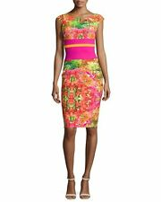 $695  LA PETITE ROBE  DI CHIARA BONI SUMATRA PRINT DRESS  SZ 44/8 NWT CURRENT