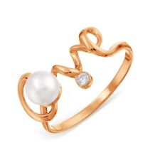 585/14ct Rose Gold Ring with White Pearl
