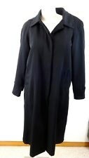 LIZ CLAIBORNE WOMENS BLACK HOODED TRENCH COAT WITH LINER SIZE 12P