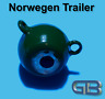 Norwegen Trailer, 60g, 90g 115g Sea Trailer, Kugelblei mit Öse, Jigkopf