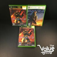 Microsoft Xbox Halo Video Game Lot (3 Games) - Halo 2 & 3