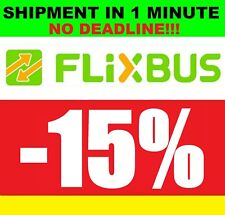 COUPON 15% FLIXBUS NO DEADLINE IMMEDIATE SHIPMENT GOOD VOUCHER CODE DISCOUNT