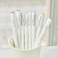 8PCS Cute Korean Stationery Watercolor Ballpoint Pen Color Kandelia Gel Pen T4H4
