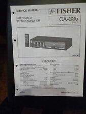 Original Service Manual Fisher CA 335