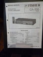 Original Service Manual Fisher CA 335