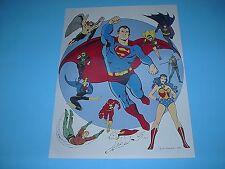 DC COMICS SUPER-FRIENDS POSTER PIN UP SUPERMAN,FLASH,BATGIRL,WONDER WOMAN