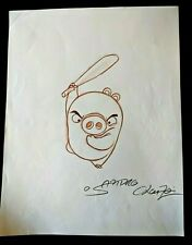 ANGRY BIRDS MOVIE Original Hand Drawn SANDRO CLUEZO SIGNED Piggy Concept Art