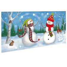 1.65M noël joyeux jouer Bonhomme de neige mise en scène Bannière de mur