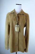 MONTEVIDEO URUGUAY BROWN SUEDE LEATHER SHIRT JACKET M