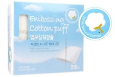 Facial Makeup Cleansing Cosmetic Embossing Cotton Attirer Puff Pads 210pcs