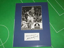 Alan Young Firmado Leicester Ciudad 1982 Original Press Fotografía Marco