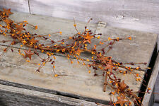Pip Berry Garland Burgundy and Gold Rusty Stars 60 inch Country Primitive Decor