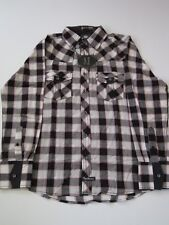Lord Nelson Black Plaid English Laundry SHIRT LONGSLEEVE MENS BUTTON UP M Medium