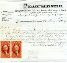 More details for pleasant valley wine company bill of exchange 1866 with two $2 conveyance stamps