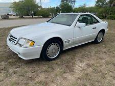 1991 MERCEDES BENZ R129 300SL HARDTOP CABRIO WEISS / TAN  56000 Scheckheft
