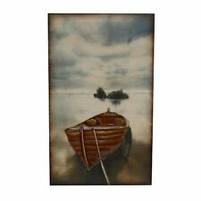 Rowing Boat Wooden and Metal Wall Art WBMWA743