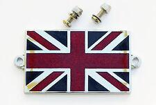 Enamel & Chrome Classic Car Badge GB Union Jack Flag with Stainless Steel Screws
