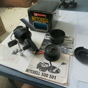 FISHING REEL VINTAGE GARCIA MITCHEL 300 D200107 AND BOX EXTRA SPOOL INSTRUCTIONS