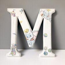 Disney Dumbo Wooden Letter M Handmade Decoupaged Freestanding/Hanging Sign 30x30
