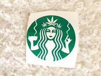 Green Coffee Cannabis Lady Smoker Yeti Mug Tumblr Car Decal Free Shipping Sale