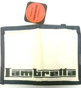 Men's Bi-Fold White Nylon Wallet Credit Cards Money Holder LAMBRETTA