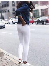 $128 NWT Spanx Distressed Skinny Jeans White Size XS