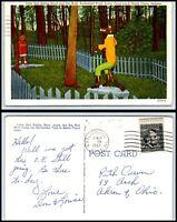 INDIANA Postcard - Santa Claus - Santa Claus Land, Red Riding Hood & Wolf G46