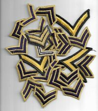 LOT OF 25 VINTAGE NO GLOW U.S. RANK STRIPES/PATCHES(MP 4314)
