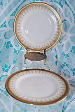 VTG PARAGON ROYAL ALBERT ATHENA LOT 2 DESSERT CAKE PLATES DESIGN DETAIL GOLD