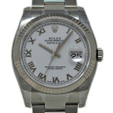 Rolex New Datejust 36mm 116234 Steel White Gold White Box/Paper/5YrWTY #RL450