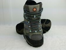 Merrell Womens Moab 2 Mid Waterproof Hiking Boot Rubber Sole Granite Size 6.5 US