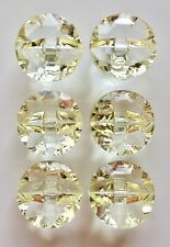Pack of 6 Sparkly Crystal Gem Buttons, 12mm and 15mm, and 7 Colour Choices