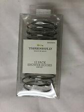Threshold Basic Ring Shower Hooks - CHROME -Pack of 12 - New