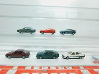 BL393-0,5# 6x Herpa H0/1:87 PKW/Auto Volkswagen/VW: Corrado + Passat GL, s.g.