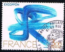 1 FRANCOBOLLO FRANCIA ARTE EXCOFFON 1977 usato (BFR338)