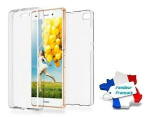 Coque Cristal Silicone Gel Protection Intégrale 360° pour Huawei P8 Lite