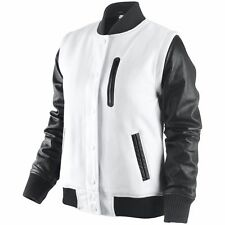 NWT Nike Destroyer NSW 2 in 1 Leather Jacket or Vest Womens Med White Black $450