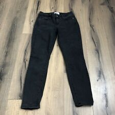 Paige Womens 28 Grey Washed Black Verdugo Ankle Skinny Jeans GUC