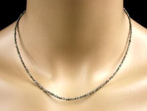 Rohdiamant Kette - Collier, in grausilber, 13 ct, Diamant, Edelstein