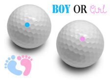 Gender Reveal Exploding Golf Balls Set White Ball Pink &  Blue Powder - Boy Girl