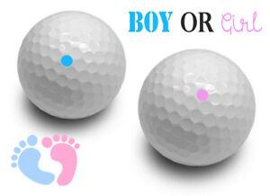 Gender Reveal Exploding Golf Balls Set White Ball Pink &  Blue Powder - Boy Girl