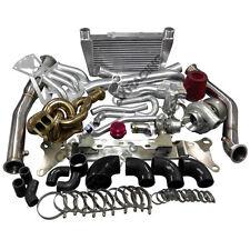 13B Engine Mount Turbo Intercooler Piping Intake Manifold Kit For RX8 Swap Black